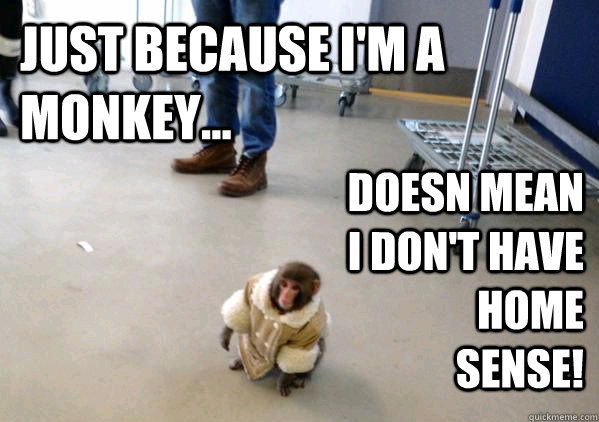 Ikea Monkey Meme Soon Just because I'm a mon...