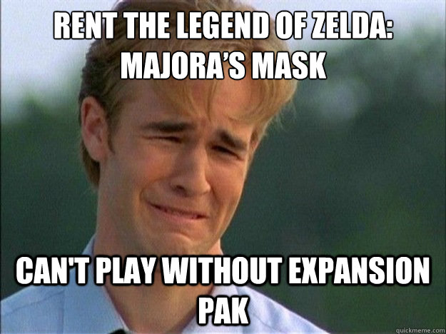 Rent The Legend of Zelda: Majora's Mask Can't play without expansion Pak  - Rent The Legend of Zelda: Majora's Mask Can't play without expansion Pak   1990s