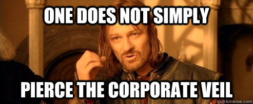 One does not simply pierce the corporate veil - One does not simply pierce the corporate veil  One Does Not Simply