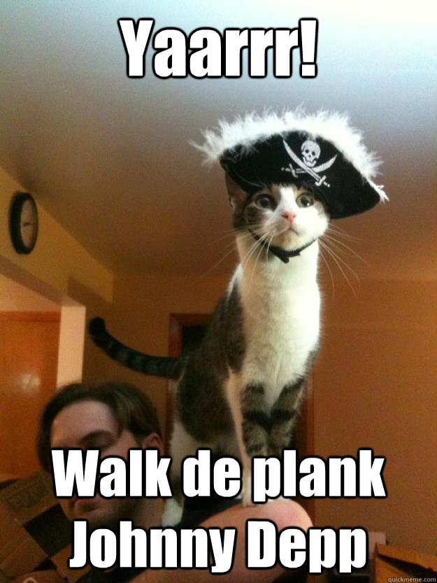 Yaarrr! Walk de plank Johnny Depp