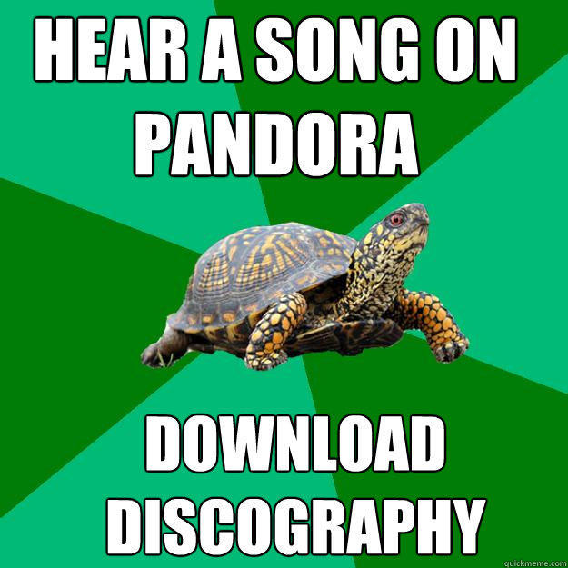hear a song on pandora download discography