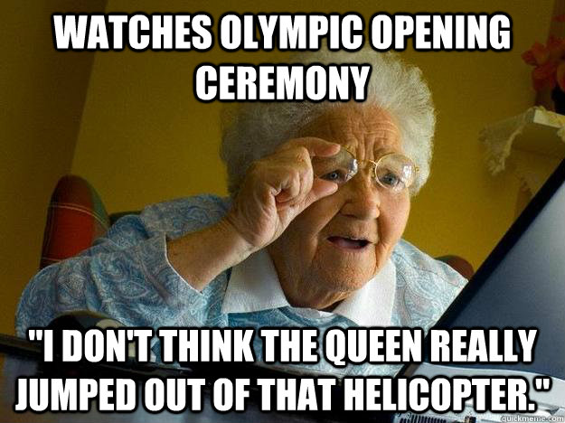 Watches Olympic Opening Ceremony