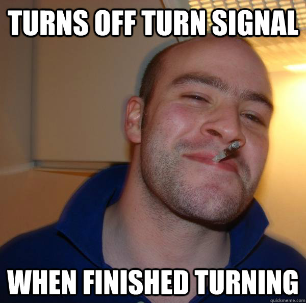 Turns OFF turn signal when finished turning - Turns OFF turn signal when finished turning  Misc