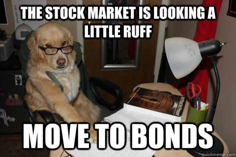 The stock market is looking a little RUFF Move to Bonds - The stock market is looking a little RUFF Move to Bonds  Financial Advice Dog