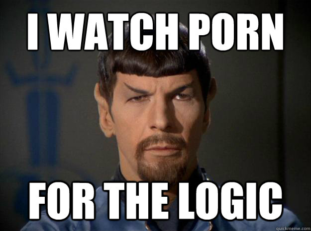 watch porn for the logic spock porn