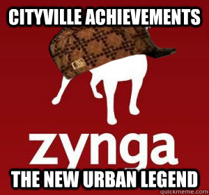 Cityville Achievements The new urban legend