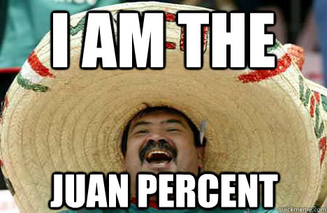I AM THE Juan Percent - I AM THE Juan Percent  Merry mexican