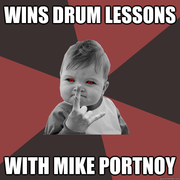 wins drum lessons with mike portnoy - wins drum lessons with mike portnoy  Metal Success Kid