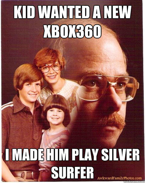 kid wanted a new xbox360 i made him play silver surfer
