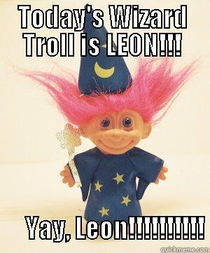 TODAY'S WIZARD TROLL IS LEON!!!         YAY, LEON!!!!!!!!!! Misc