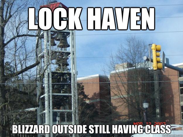 Lock Haven Blizzard outside still having Class