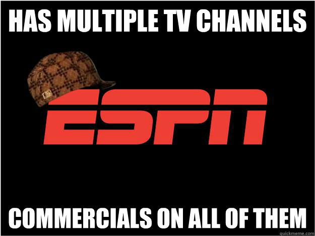 Has multiple TV channels Commercials on all of them - Has multiple TV channels Commercials on all of them  Misc