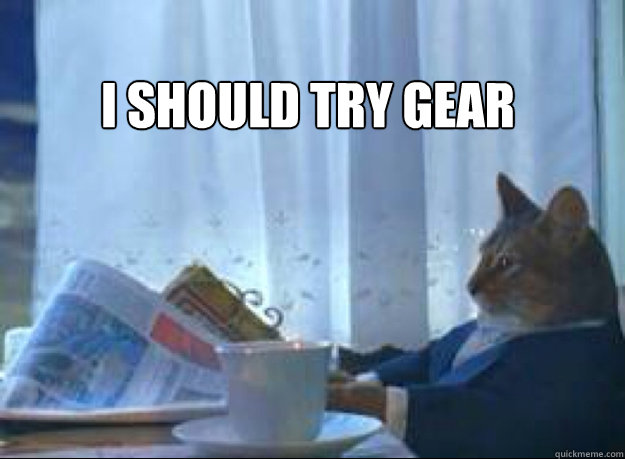 I Should try gear  - I Should try gear   I should buy a boat cat