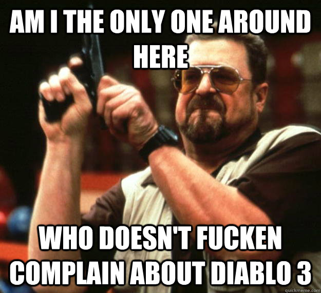 am I the only one around here Who doesn't fucken complain about Diablo 3 - am I the only one around here Who doesn't fucken complain about Diablo 3  Angry Walter
