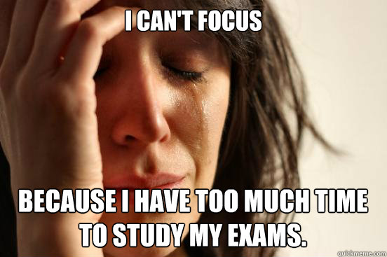 I have problems studying! Help?