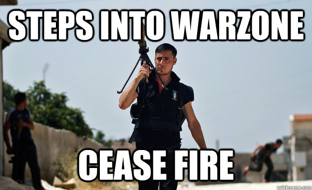 Steps into warzone cease fire