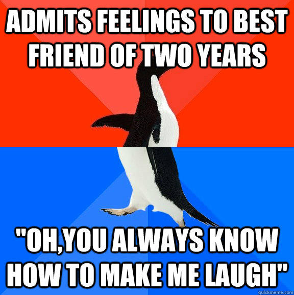 Admits feelings to best friend of two years