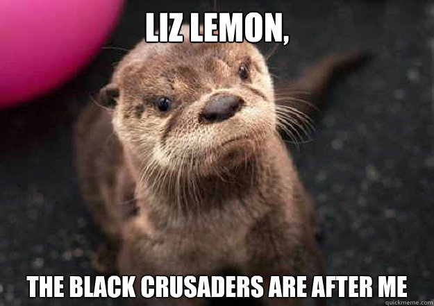 liz lemon, the black crusaders are after me  Tracy Jordan Otter