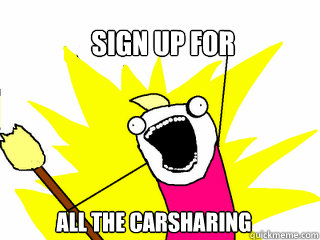 Sign up for all the carsharing  - Sign up for all the carsharing   All The Things