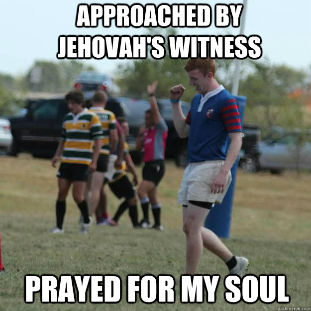 Approached by Jehovah's Witness Prayed for my soul