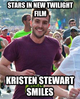 stars in new twilight film kristen stewart smiles  Ridiculously photogenic guy