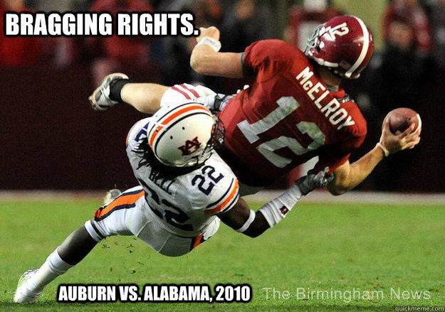 Bragging Rights. Auburn vs. Alabama, 2010 - Bragging Rights. Auburn vs. Alabama, 2010  College Gameday