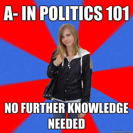 political knowledge of college students Poe-299, evidence, proof, and knowledge, 3 credits  students pursuing an  international political economy major can satisfy this requirement through one of .