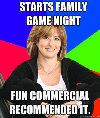 Starts Family game night  Fun Commercial  Recommended it. - Starts Family game night  Fun Commercial  Recommended it.  Sheltering Suburban Mom