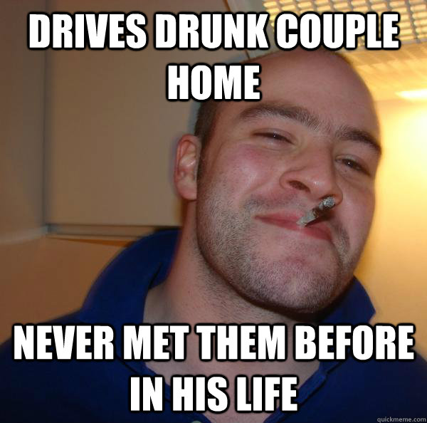 Drives drunk couple home Never met them before in his life - Drives drunk couple home Never met them before in his life  Misc