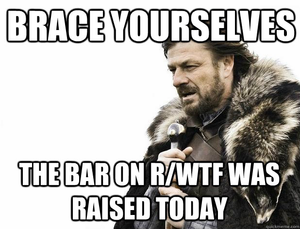 brace yourselves the bar on r/wtf was raised today - brace yourselves the bar on r/wtf was raised today  Misc