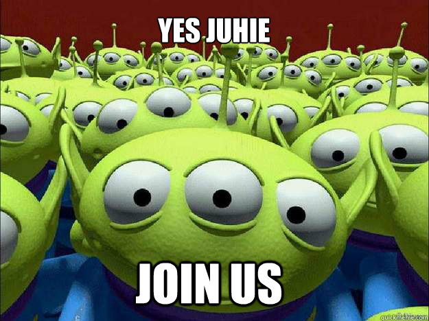 YES JUHIE JOIN US