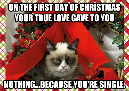 on the first day of christmas your true love gave to you nothingbecause youre single