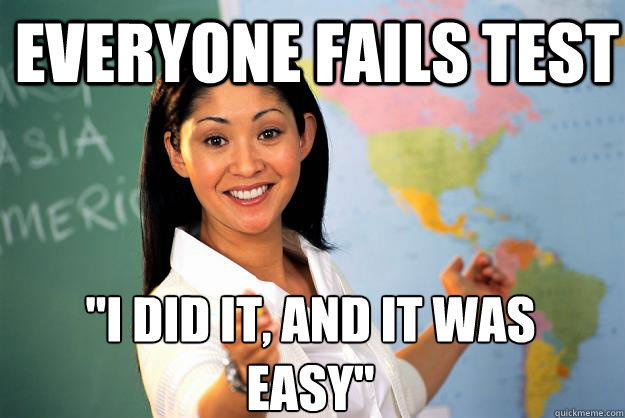 Everyone Fails Test