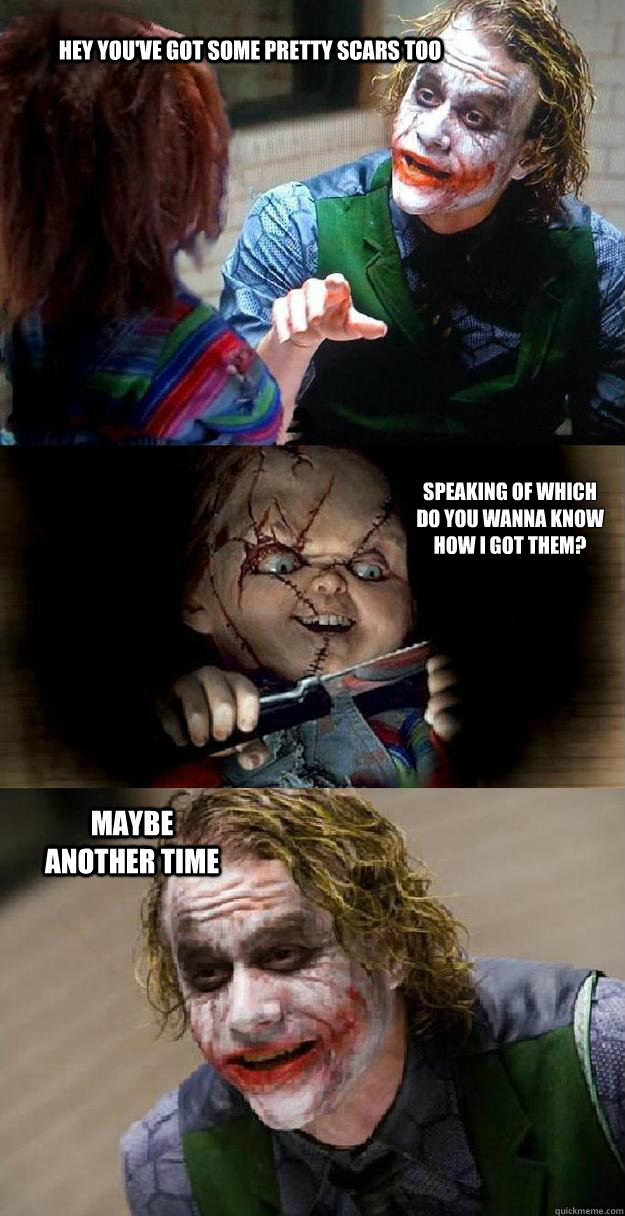 03ea04babe8ce7e75650852921194e5fdccbf70dcf5e4cee4f39bd1704258281 the joker and chucky memes quickmeme