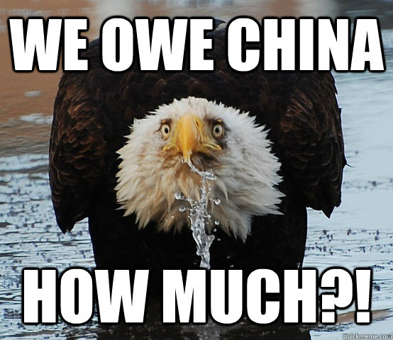 We owe China How much?! - We owe China How much?!  Surprised Eagle