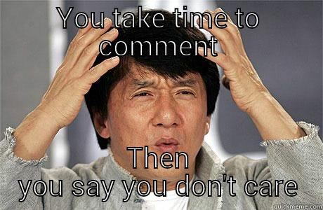 Passed off jackie - YOU TAKE TIME TO COMMENT THEN YOU SAY YOU DON'T CARE EPIC JACKIE CHAN