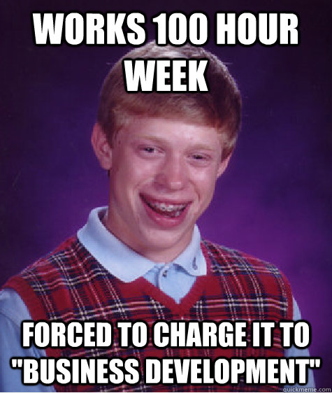 works 100 hour week forced to charge it to