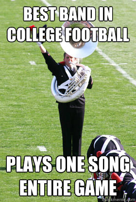 Best band in college football plays one song entire game - Best band in college football plays one song entire game  OSU Band