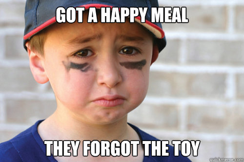 Got a happy meal they forgot the toy