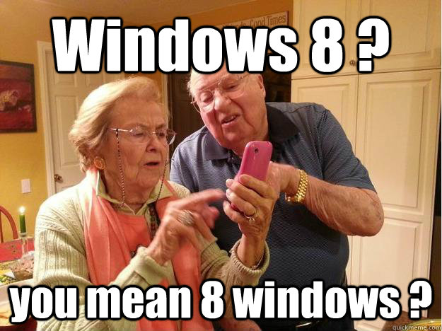 Windows 8 ? you mean 8 windows ?