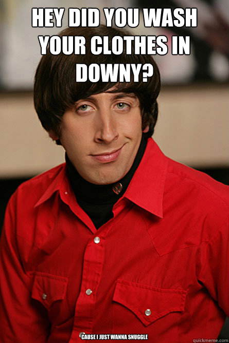 Hey did you wash your clothes in downy? cause i just wanna snuggle  Pickup Line Scientist