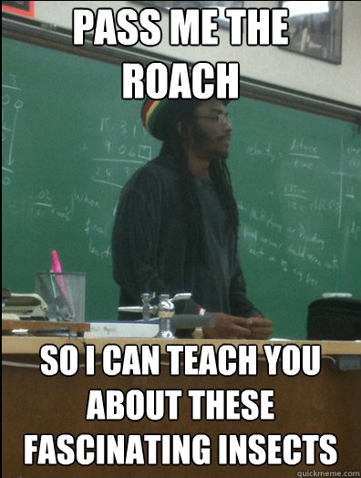 pass me the roach so i can teach you about these fascinating insects - pass me the roach so i can teach you about these fascinating insects  Rasta Science Teacher