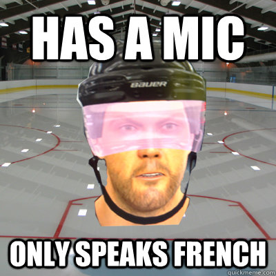 Has a mic only speaks french