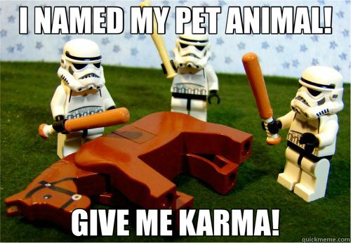 I NAMED MY PET ANIMAL! GIVE ME KARMA! - I NAMED MY PET ANIMAL! GIVE ME KARMA!  Beating dead horse