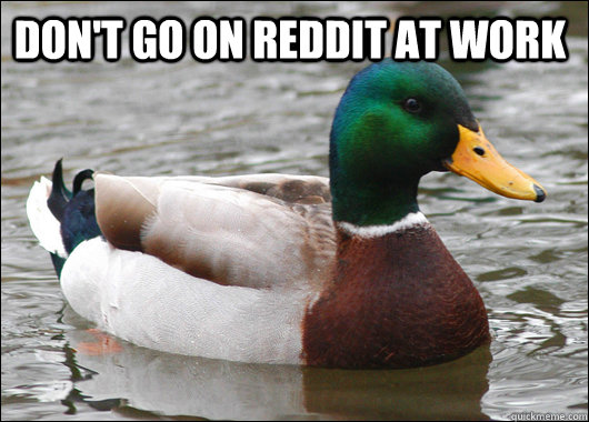 Don't go on Reddit at work  - Don't go on Reddit at work   Actual Advice Mallard
