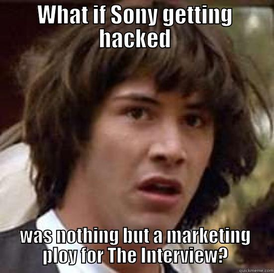 The Interview - WHAT IF SONY GETTING HACKED WAS NOTHING BUT A MARKETING PLOY FOR THE INTERVIEW? conspiracy keanu