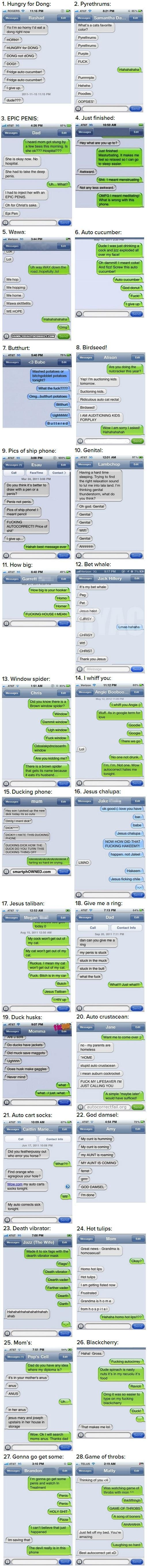 The 28 Most Hilarious Autocorrect Struggles Ever -   Misc