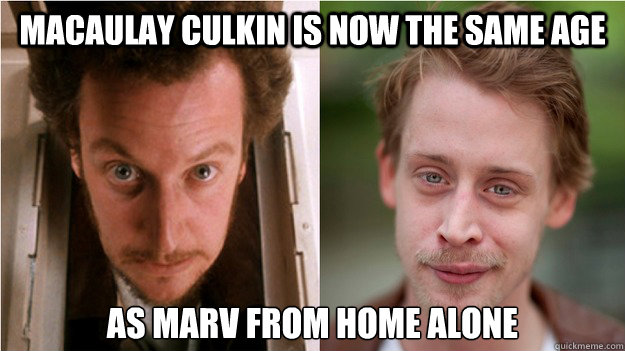 Macaulay Culkin is now the same age as Marv from Home Alone - Macaulay Culkin is now the same age as Marv from Home Alone  Misc