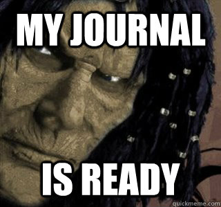 My journal Is Ready - My journal Is Ready  Planescape Nameless One
