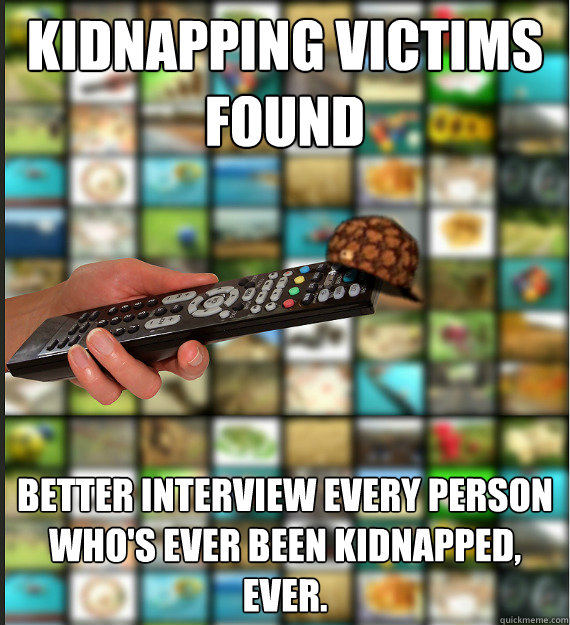 Funny Kidnapping Meme : Kidnapping victims found better interview every person who